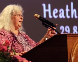 Heather Heyer's mother, Susan Bro, speaks during a memorial for her daughter at the Paramount...