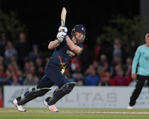 Jimmy Neesham in T20 action for Kent Spitfires against Surrey in Canterbury, England, earlier...