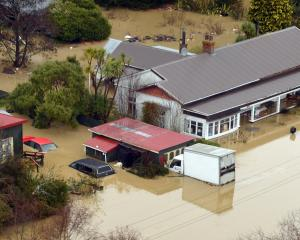Flooding at Henley on the Taieri last month. Photo: Stephen Jaquiery.