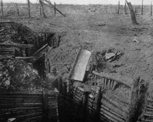 One of the German trenches captured by the French on the Hindenburg Line. — Otago Witness, 15.8...