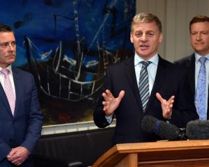 At the announcement of the Dunedin Hospital rebuild are  (from left) Dunedin list MP Michael...