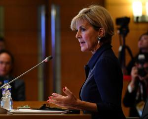 "Australian Foreign Minister Julie Bishop says Australia has been in ""constant discussion"" with..."