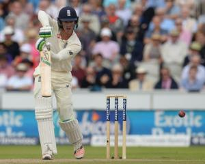 Keaton Jennings batting for England. Photo: Getty Images