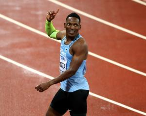 Isaac Makwala after qualifying for the 200m final at the IAAF world championships. Photo: Getty...