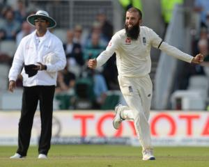 Moeen Ali celebrates a wicket during England's fourth test win over South Africa. Photo: Getty...