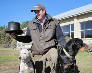 Maniototo Young Farmer's Club vice-president Matt Ward contemplates some top hat attire ahead of...