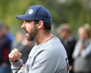 OBHS coach Ryan Martin during the 2017 First 15 Rugby match between Otago Boys High School and...