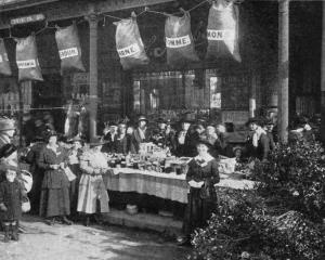 The Otago Women's Patriotic Association's stall at Jacob's Corner, which did good business on `...