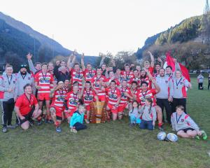 The victorious Clutha rugby team won its third successive Otago Country countrywide title by...