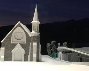 An artist's impression shows the historic St Patrick's Church, in Arrowtown, beside architect...