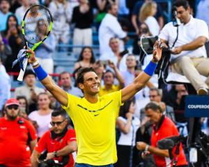 Rafael Nadal celebrates a win last week at the ATP Coupe Rogers in Montreal. Photo: Getty Images
