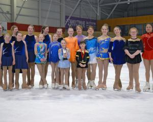 Some of the Dunedin Ice Skating Club members who competed in the South Island championships in...