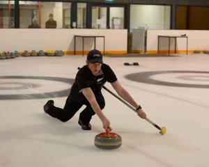 Otago Boys' High School pupil Hamish Walker (17) trains at the Dunedin Ice Stadium last week....