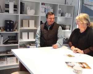 Miller Creative Group managing director Keith Cooper (left) and interior designer Annie Simpson...
