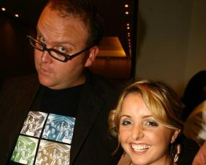Tim Homer with Corinna at the radio awards in 2006. The radio personality has passed away at the...