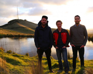 The Trump Forest crowdfunding campaign was launched by Christchurch-based men (from left) Adrien...
