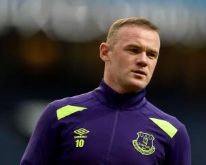 Wayne Rooney prior to Everton's game against Manchester City at the weekend. Photo: Getty Images