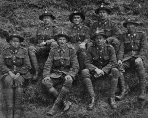 Some men of the First Otago Battalion at St Omer, France, just before the battle of Messines....