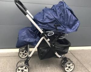 "The pram that was not a ""good look"" for the Christchurch beauty parlour. Photo: NZ Herald/Supplied"