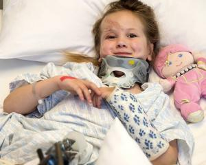 Nivarna Badman in Christchurch Hospital. Photo: NZ Herald