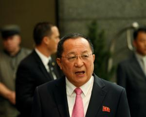 North Korea's foreign minister Ri Yong Ho. Photo: Reuters