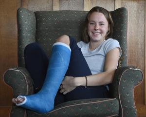 Para-athlete Anna Grimaldi at home yesterday as she waits for the stress fracture in her foot to...