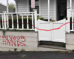 A Grey Lynn resident has fallen victim to a political attack on her home. Photo: Supplied