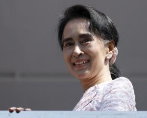 Aung San Suu Kyi. Photo by Reuters