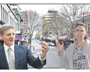 National Party leader and Prime Minister Bill English and Labour Party leader Jacinda Ardern on...