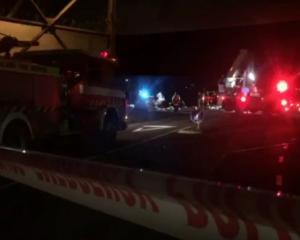 "Witnesses say the car went through a roundabout and ""straight into the drink"" near Auckland..."
