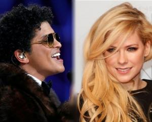Pop singers Bruno Mars and Avril Lavigne. Photos: Reuters