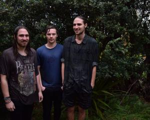 Dunedin's resident surf-rock sweethearts Koizilla (from left) Zac Nicholls, Connor Blackie and...