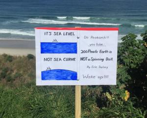 The sign at St Kilda Beach, in Dunedin, that has gone global. Photo: supplied.