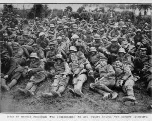 German prisoners who surrendered to our troops during the recent offensive. — Otago Witness, 12.9...