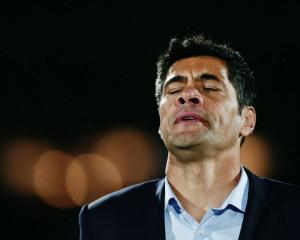 Warriors coach Stephen Kearney reacts after the team's loss to the Sea Eagles in Auckland late...