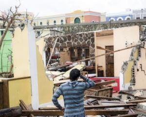 Homes damaged by Hurricane Maria in the La Perla neighbourhood in San Juan, Puerto Rico. Photo Getty