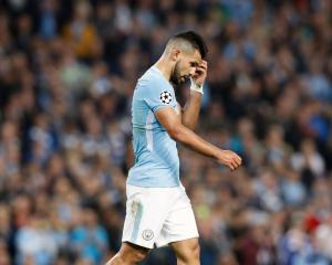 Manchester City's Sergio Aguero. Photo:Getty Images