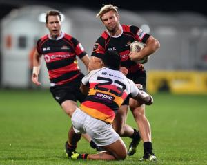 Braydon Ennor runs the ball up for Canterbury. Photo Getty