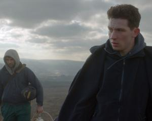 Josh O'Connor (right) and Alec Secareanu in God's Own Country. Photo: supplied.