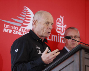 Emirates Team New Zealand CEO Grant Dalton announces new Americas Cup protocol. Photo: NZME