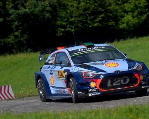 Hayden Paddon racing in Germany last month. Photo: Getty Images