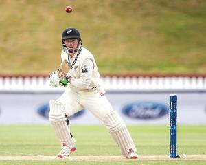 Henry Nicholls in action in a test for New Zealand against Bangladesh earlier this year. Photo:...