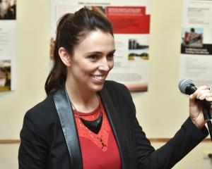 Labour list MP Jacinda Ardern speaks at a suffrage breakfast yesterday at the Community Gallery...