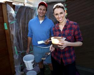Jacinda Ardern and her partner Clark Gayford spent the day doing some DIY on their Auckland home....
