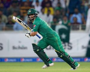 Khalid Latif bats for Pakistan last year. Photo: Getty Images