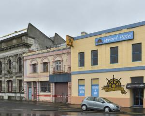 The former Gregg's building at 21 Fryatt St (centre) and the Wharf Hotel building at 25 Fryatt St...