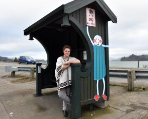 St Leonards resident Megan Sinclair stands at her local bus stop from where buses will next term...
