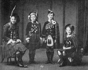 Miss B. King's group in the ``Reel o' Tulloch'' (under 15 years), at the Dunedin Competitions...