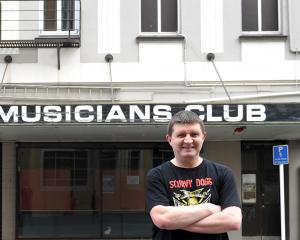 Club member and fundraising concert organiser Iain Johnstone outside the Dunedin Musicians' Club,...