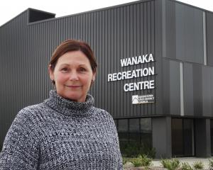 One of the organisers of the Festival of Sport and Recreation, Bronwyn Coers, outside the Wanaka...